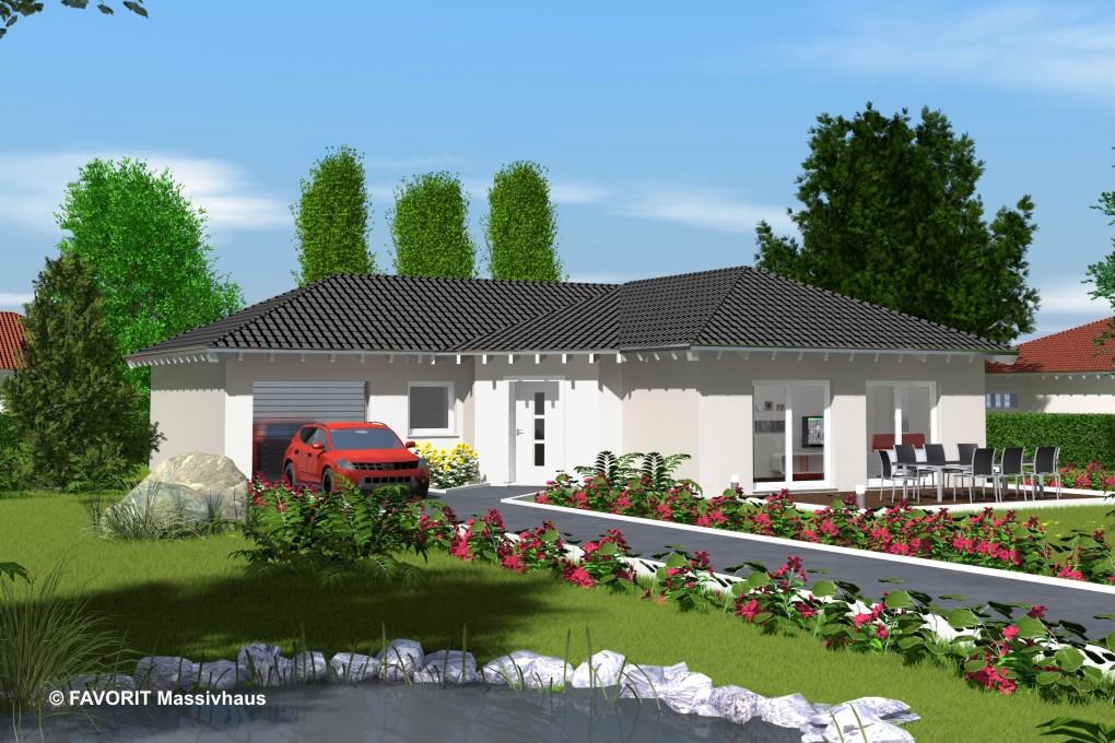 Favorit Massivhaus chalet 103 alle funktionen unter einem dach bauunternehmer schob