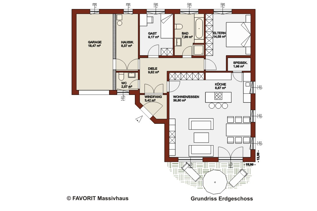 Bungalow U Form Grundriss : Bungalow In U Form Mit Atrium Pictures to ...