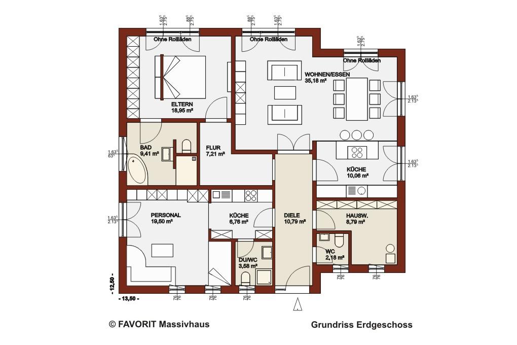 chalet 132 ein bungalow mit dem sie alt werden k nnen bauunternehmer schob. Black Bedroom Furniture Sets. Home Design Ideas