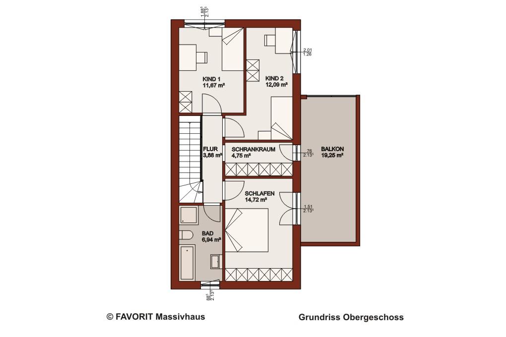 concept design 144 stilvoller hausbau mit dachterrasse bauunternehmer schob. Black Bedroom Furniture Sets. Home Design Ideas