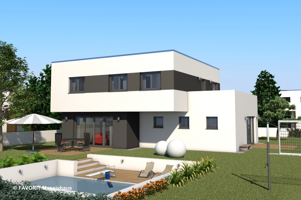 concept design 174 klare linien mit interessantem grundriss bauunternehmer schob. Black Bedroom Furniture Sets. Home Design Ideas