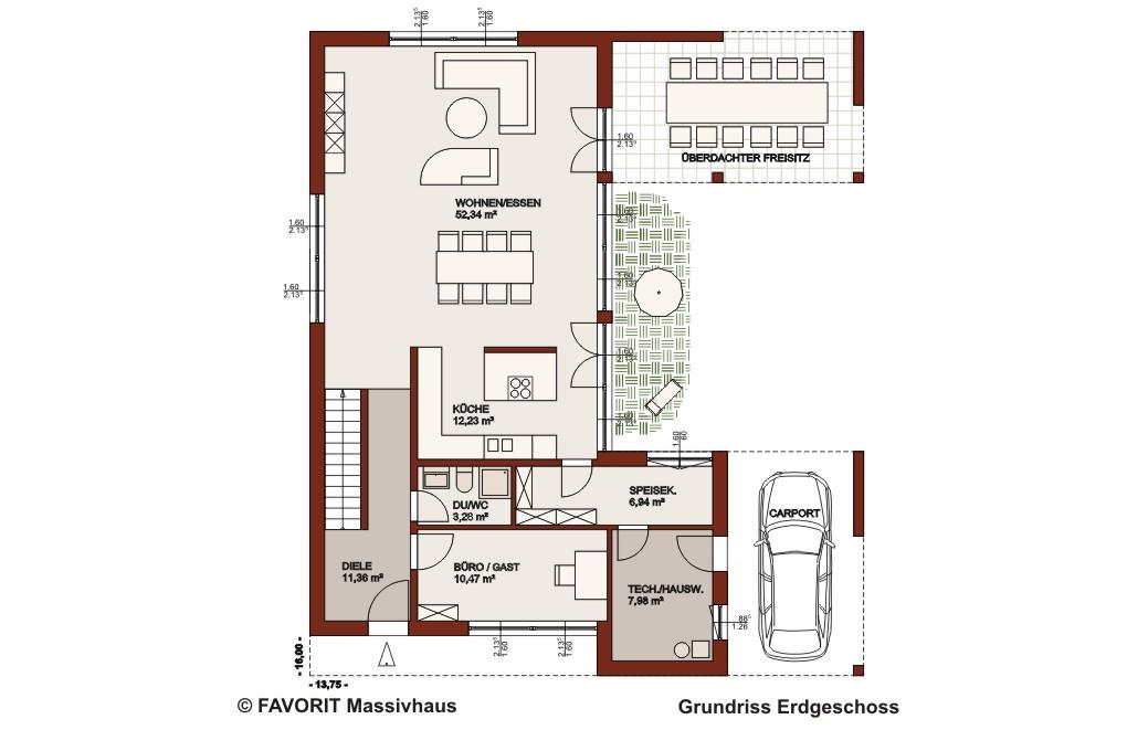 Concept design 198 architektenhaus mit freisitz for Architektenhaus grundriss
