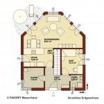 Creativ Sun 134 Erdgeschoss Grundriss 1020x680pxl