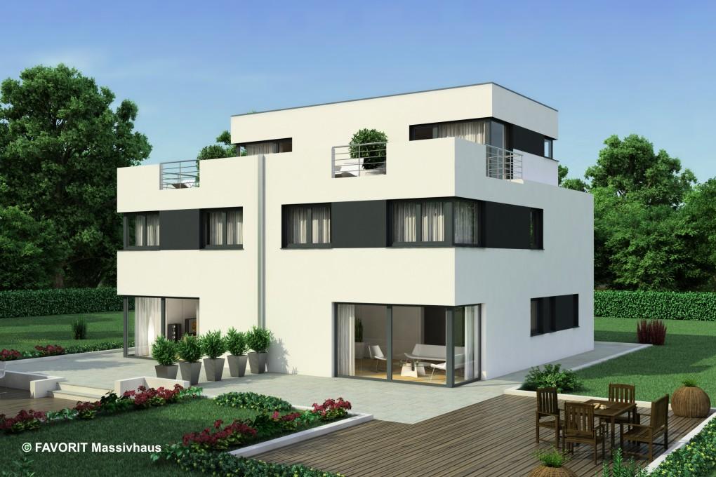Finesse 166 moderner doppelhaus traum bauunternehmer schob - Bauhausstil architektur ...