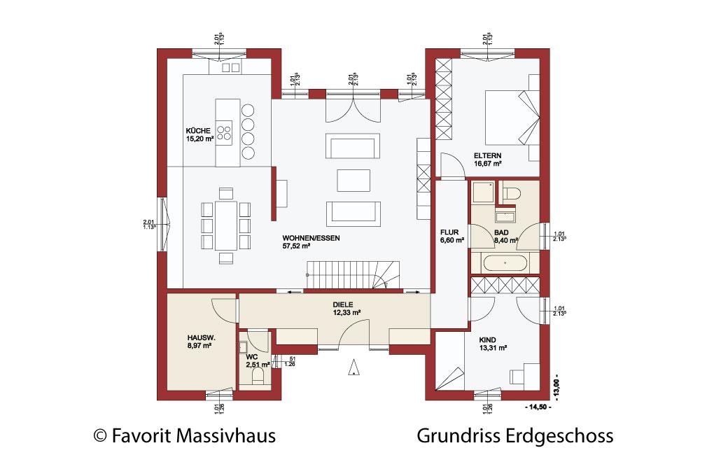 Chalet 173 der landhaus bungalow mit stil for Zweifamilien bungalow grundriss